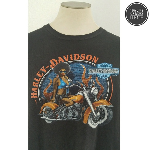 20945ada Harley-Davidson Shirts | Harleydavidson Caliente Black Tshirt Sz 2xl ...